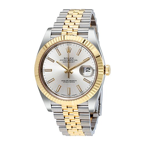 Rolex Datejust41 Silver Dial Steel and 18K Yellow Gold Jubilee Mens Watch 126333SSJ