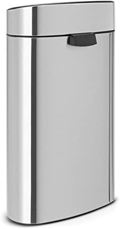 Brabantia Touch Bin Cubo de Basura para Reciclaje, 23+10 litros, Acero Mate