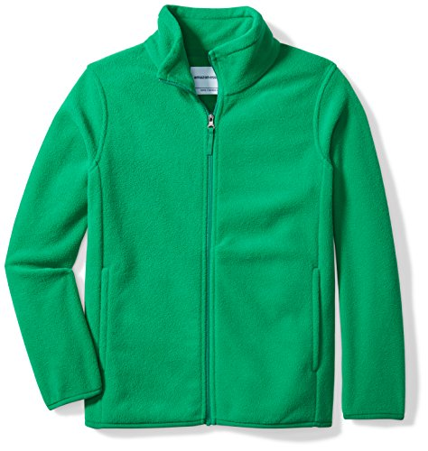 - Amazon Essentials Little Boys' Full-Zip Polar Fleece Jacket, Kelly Green, Small