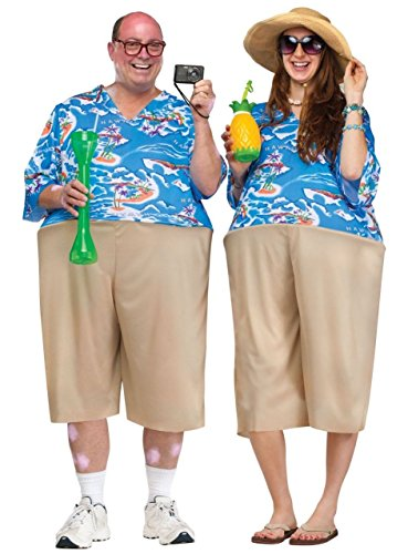 [Tacky Tourist Adult Costume] (Asian Tourist Costume)