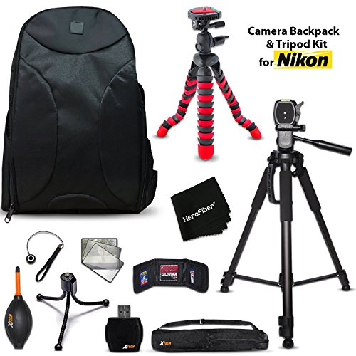 Well Padded Camera Backpack + 60 inch Tripod + 12 inch Flexi