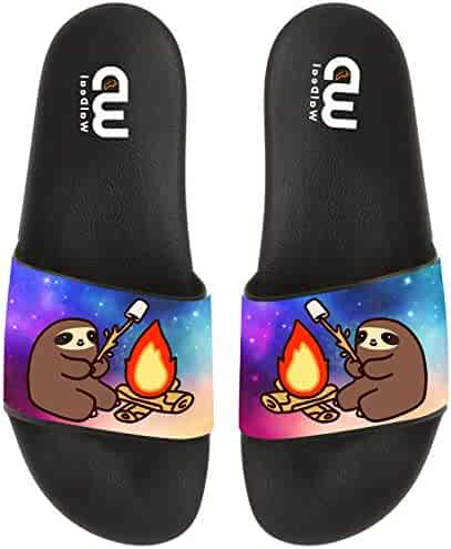 82a95d20d Cartoon Cute Sloth Camper BBQ Summer Slide Slippers For Men Women Boy Girl Outdoor  Beach Sandal