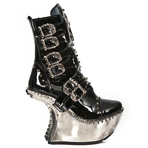Nuovi Stivali Di Roccia M.ext005-c2 Hardrock Punk Gotica Damen Stiefel Schwarz