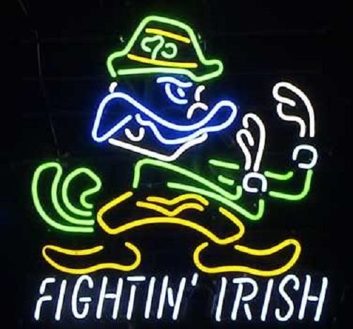 Urby™ 22''x18'' Sports Teams NotreD_FightingIrish_Logo Custom Neon Sign Beer Bar Pub Neon Light 3-Year Warranty-Fantastic Artwork! S72
