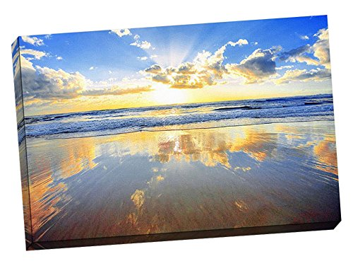 Sunrise Decoration Printed Canvas Stretched