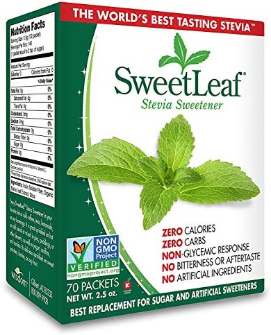 SweetLeaf Natural Stevia Sweetener, 70 Count .2 Pack 70 Count