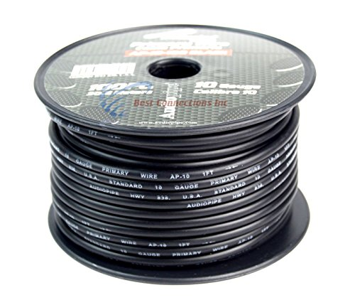 10 GA GAUGE 100 FT SPOOLS PRIMARY AUTO REMOTE POWER GROUND WIRE CABLE (3 ROLLS) by Audiopipe (Image #3)