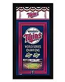 Minnesota Twins Miniframe World Series Championship Banner 7x13 Framed Sports Photo