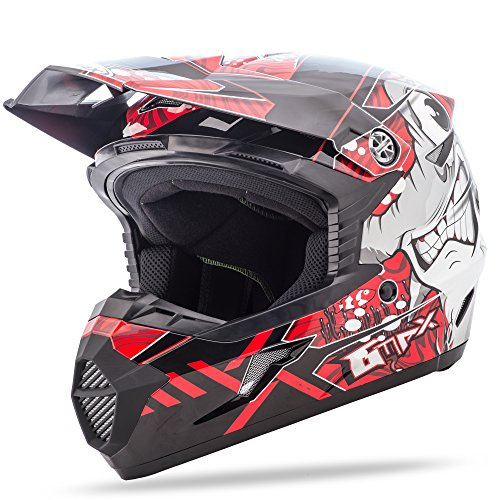 Helmet Tc1 - GMAX MX46Y Hooper Youth Motocross Helmets - Red - Youth Medium