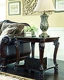 Ashley Furniture Signature Design Norcastle Square End Table, Dark Brown