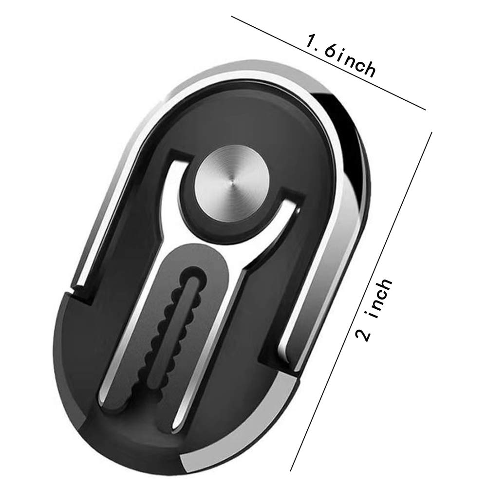 360/°Rotation /& 90/°Flip Black Pgwaai Cell Phone Ring Holder Stand 3 in 1 Universal Air Vent Car Phone Mount and Finger Grip Ring Kickstand