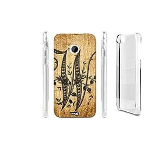 FUNDA CARCASA EFECTO MADERA W WORD PARA HTC ONE M7