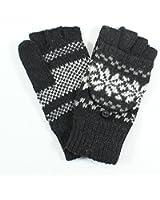 LL- Fingerless Flipover Wool Blend Womens Kids Mitten Winter Gloves Many Styles