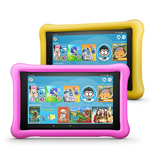 Fire HD 8 Kids Edition Tablet 2-Pack, 8 HD Display, 32 GB, Kid-Proof Case - Pink/Yellow