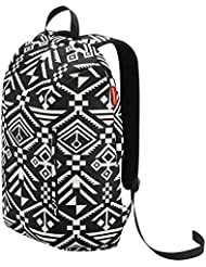 Reisenthel Rucksack 1, Backpack, Satchel, for Laptop, Tablet, Hopi Black, RC7034