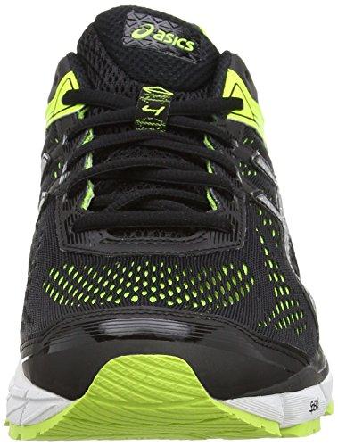 ASICS - Gt-1000 4, Zapatillas de Running hombre Negro (black/silver/flash Yellow 9093)
