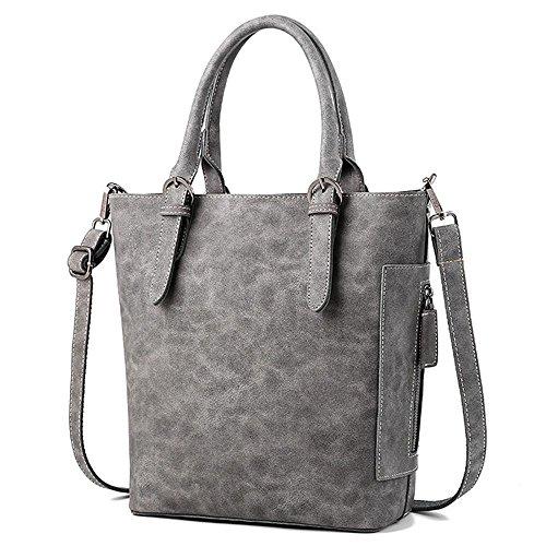 Aoligei Rétro féminin paquet de seau de fibre Bau Dame simple mode européens et américains Baotan épaule messenger bag E