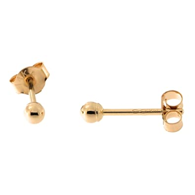 dcb2a8b85 Amazon.com: 14k Rose Gold Ball Stud Earrings, 2mm: Jewelry