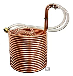Copper Immersion Wort Chiller, 50ft x 3/8in