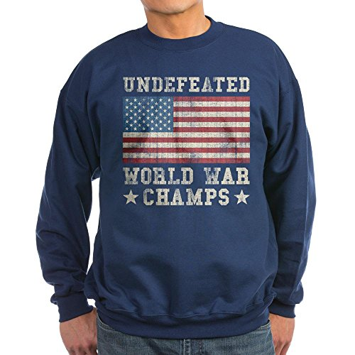 CafePress - Undefeated World War Champs Sweatshirt (dark) - Classic Crew Neck - Thermal Champ Sweatshirt