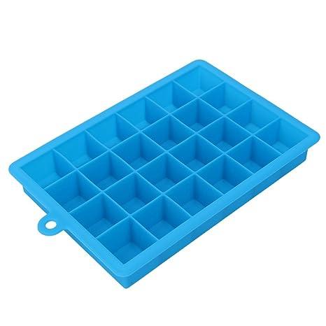 Molde para cubitos de hielo TONVER con 24 rejillas cuadradas para hacer tú mismo, bandeja