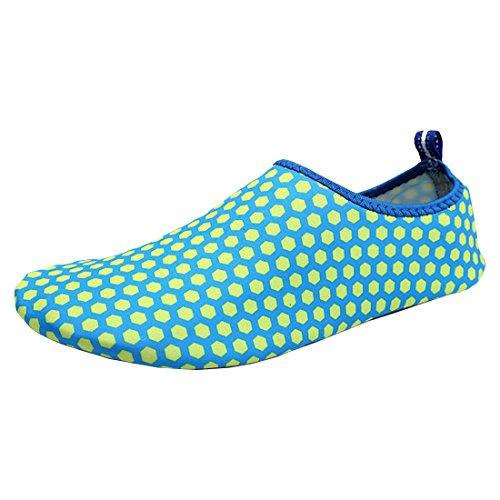 Partiss Unisex Sommer Strandschuhe Aquaschuhe Breathable Schnell Trocknend Schwimmschuhe Surfschuhe fuer Damen Herren Blau B