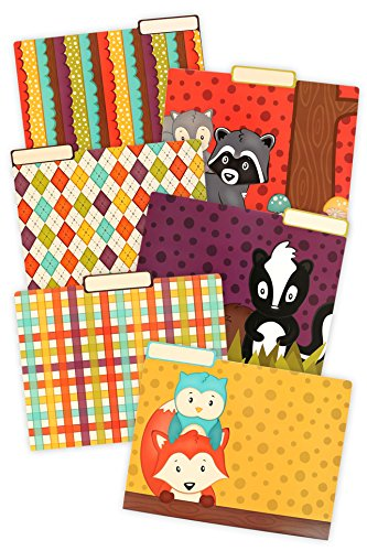 Renewing Minds Woodland Tails File Folders, Assorted Designs, Letter Size, Pack of 12