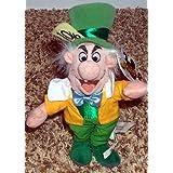 """Retired Disney Alice in Wonderland 8"""" Plush Bean Bag Mad Hatter Doll"""