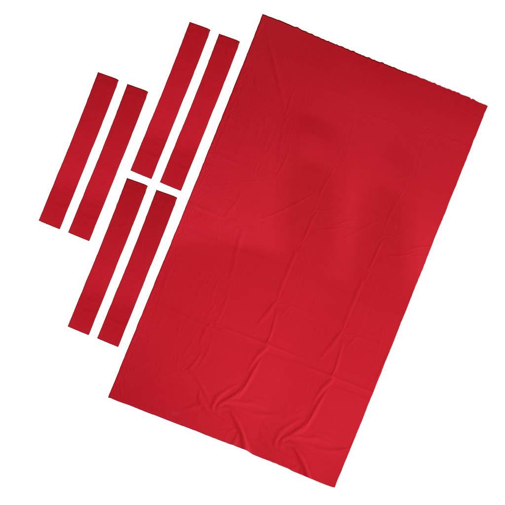 B Baosity 1 Conjunto de Tapete de Mesa de Billar Hecho de Lana y Nylon - Rojo