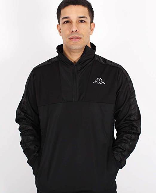 Kappa Mens Adiny Track Jacket, Black at Amazon Mens ...