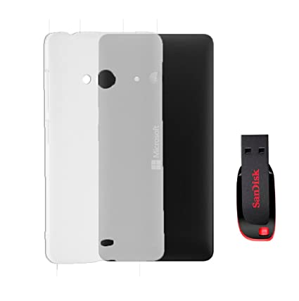 Transparent Combo of Back Case Cover and 16GB Pendrive Nokia