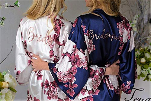 Bridesmaid Gifts, Bridesmaid Robes, Wedding Robes, Bridal Party Gift, Bridesmaid Robe, Satin Robe, Bridal Party Robes, Personalized Robe]()