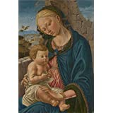Canvas Prints Of Oil Painting ' Italian Florentine The Virgin And Child ' , 8 x 12 inch / 20 x 31 cm , High Quality Polyster Canvas Is For Gifts And Basement, Bath Room And Laundry Room Decoration