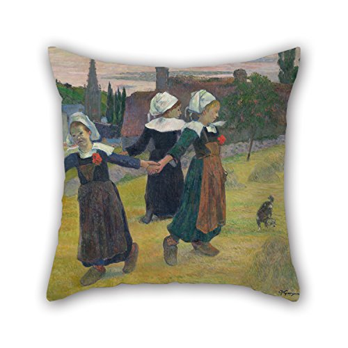 [Elegancebeauty Cushion Cases Of Oil Painting Paul Gauguin - Breton Girls Dancing, Pont-Aven,for Festival,lounge,living Room,girls,kids,lounge 16 X 16 Inches / 40 By 40 Cm(twin] (Hobbes Costumes For Sale)