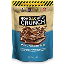 Road Crew Crunch Milk Chocolate Mile Salty-Sweet Snack with Peanuts, Pretzels and more -  Made with Gluten Free Ingredients, Fair Trade Certified - 4 Ounce Bag, Pack of 6
