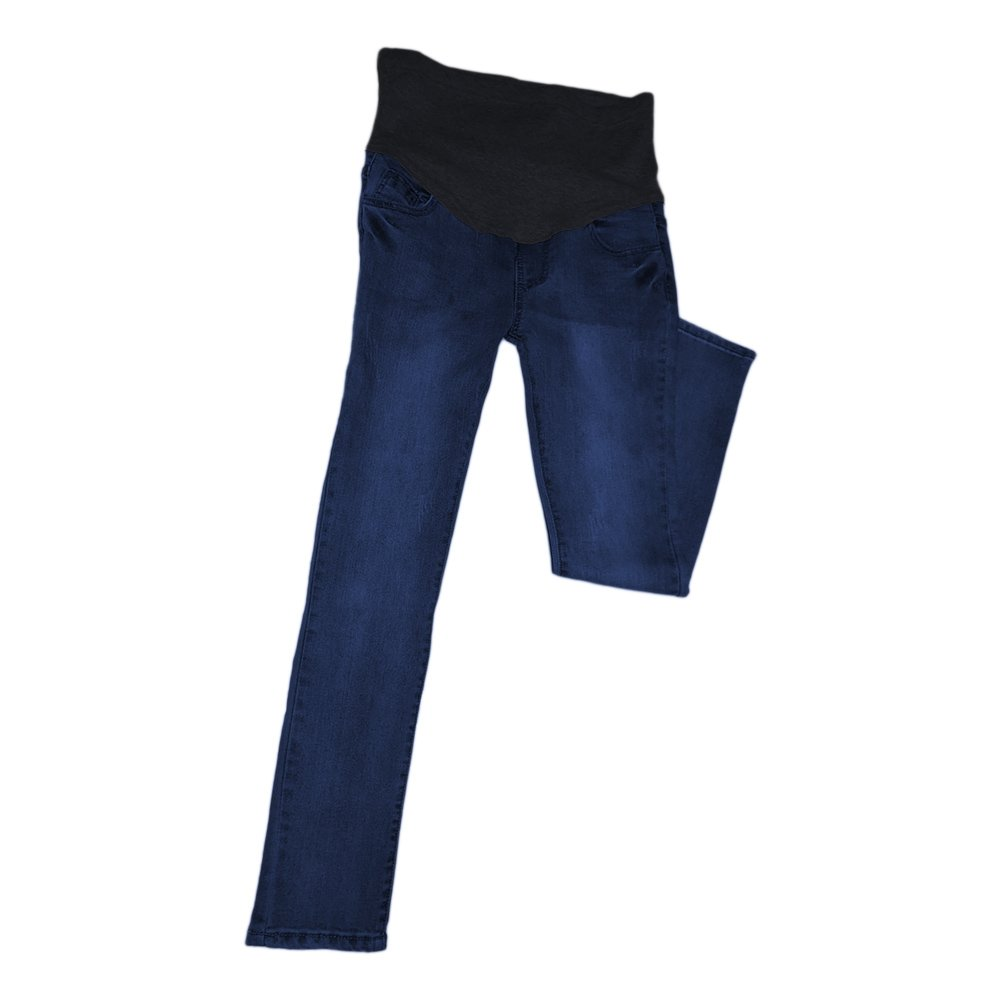 Vintage Maternity Jeans Motherhood Slim-fit Over The Bump Pants Pregnant Trousers Haodasi Maternity Pregnant Trousers