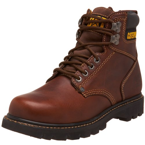 "Caterpillar Men's Second Shift 6"" Plain Soft Toe Work Boo..."