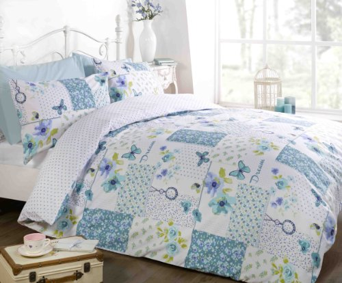 Copripiumino Patchwork.Art Dream Patchwork Duvet Cover Quilt Bedding Set Teal King Size