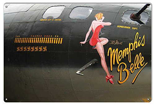 Aviation Nose Art - Nose Art Memphis Belle Reproduction Aviation Sign 12