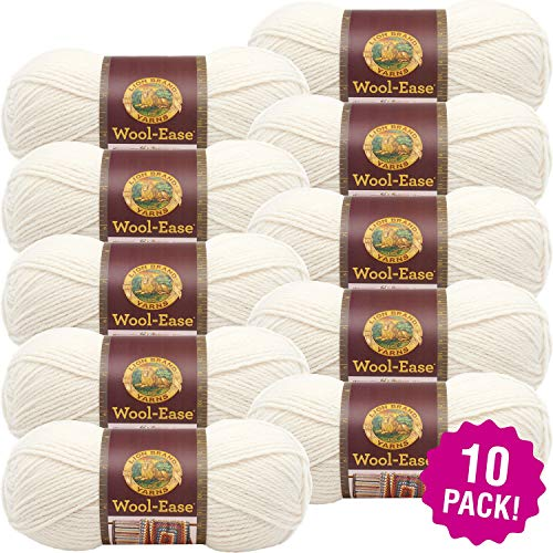 Lion Brand 97755 Wool Ease Yarn-10/Pk-Fisherman, 10/Pk, Fisherman Pack (Yarn Fishermans Wool)