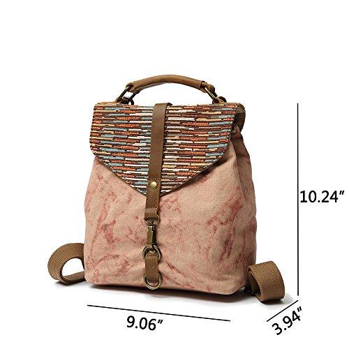 Vintage Lady Women Shoulder Style Canvas Casual Vianber Handbag Bag Ethnic Literary Backpack dXqvxnOw1