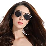 CHB Mirrored Lens street fashion metal frame polarized sunglasses uv400 with case