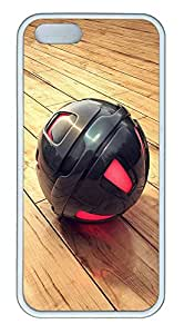 iPhone 5 5S Case 3D Black And Red Sphere TPU Custom iPhone 5 5S Case Cover White