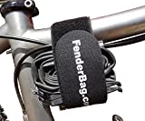FenderBag Bicycle Carrier Strap, Hook & Loop Cinch Strap with Silicone for Fixed Position