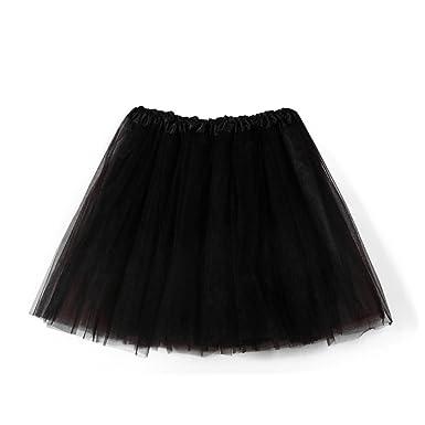4e6308ea49dae JACKY-Store Women s Petticoat Pleated Gauze Short Skirt Plus Size Girls  High Waisted Layered Organza