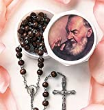 St Pio Rose Scented Rosary Devotional Saint