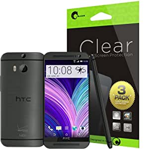 i-Blason All New HTC One M8 Screen Protector - 3 Pack + Premium HD Clear Version for HTC One 2014 (AT&T, Verizon, Sprint, T-mobile, All Carriers)