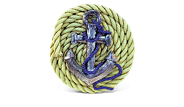Cota Global Anchor With Rope Refrigerator Nautical Magnet Maritime Decoration Anchor Resin Beach Design Fun And Cute Ocean Magnet For Kitchen Fridge Locker Home Decor And Office Decor Novelty Kitchen Dining
