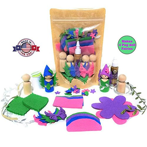 Wildflower Toys Peg Doll Fairy Kit for Ages 7+ -