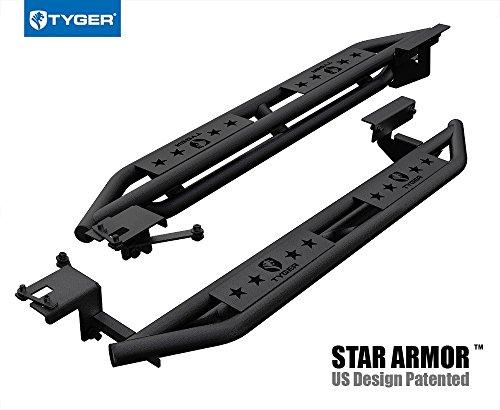 Tyger Auto TG-AM2F20328 Star Armor Kit for 1999-2011 Ford XLT/Ranger Edge Super Cab 4DR | Textured Black | Side Step | Nerf Bars | Running Boards ()